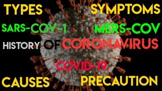History of Coronavirus |Types|Transmission|Symptoms|Precautions|Animated presentation of coronavirus