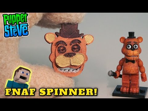 Fidget Spinner Five Nights at Freddy's fnaf Toy Hand custom DIY Hack Slappy tricks Foxy Puppet Steve