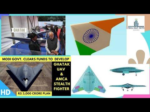 India news 24th oct: Modi Govt. clears funds  to Develop-  Ghatak UAV & AMCA Stealth Flighter
