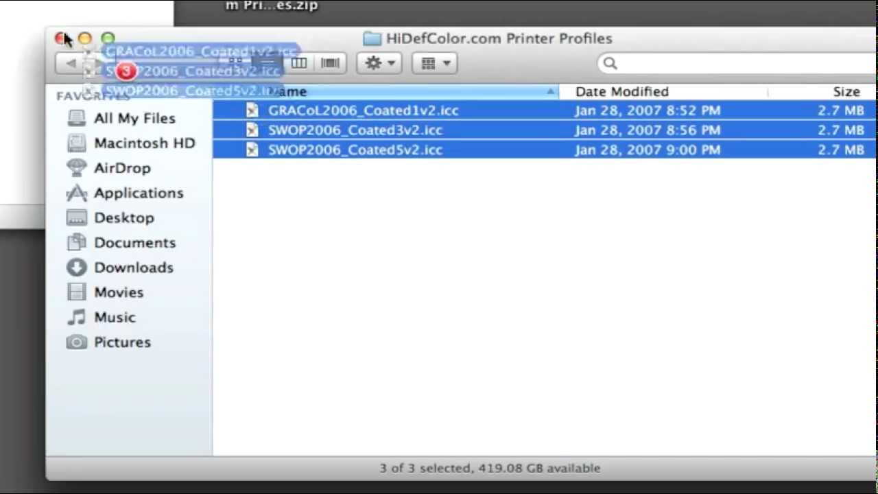 Installing Printer Profiles in Photoshop Mac OSX [HD]