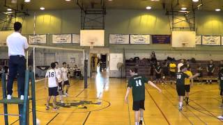 PSAL Boys Volleyball: Bx. Science/Academy of American Studies (3/21/2015)