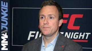 UFC Moncton: UFC exec David Shaw post event media scrum