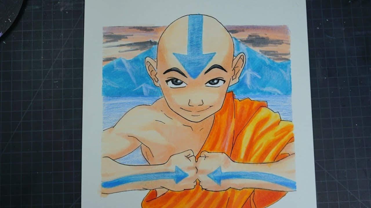 Drawing Aang Avatar The Last Air Bender | GIVEAWAY WINNER.