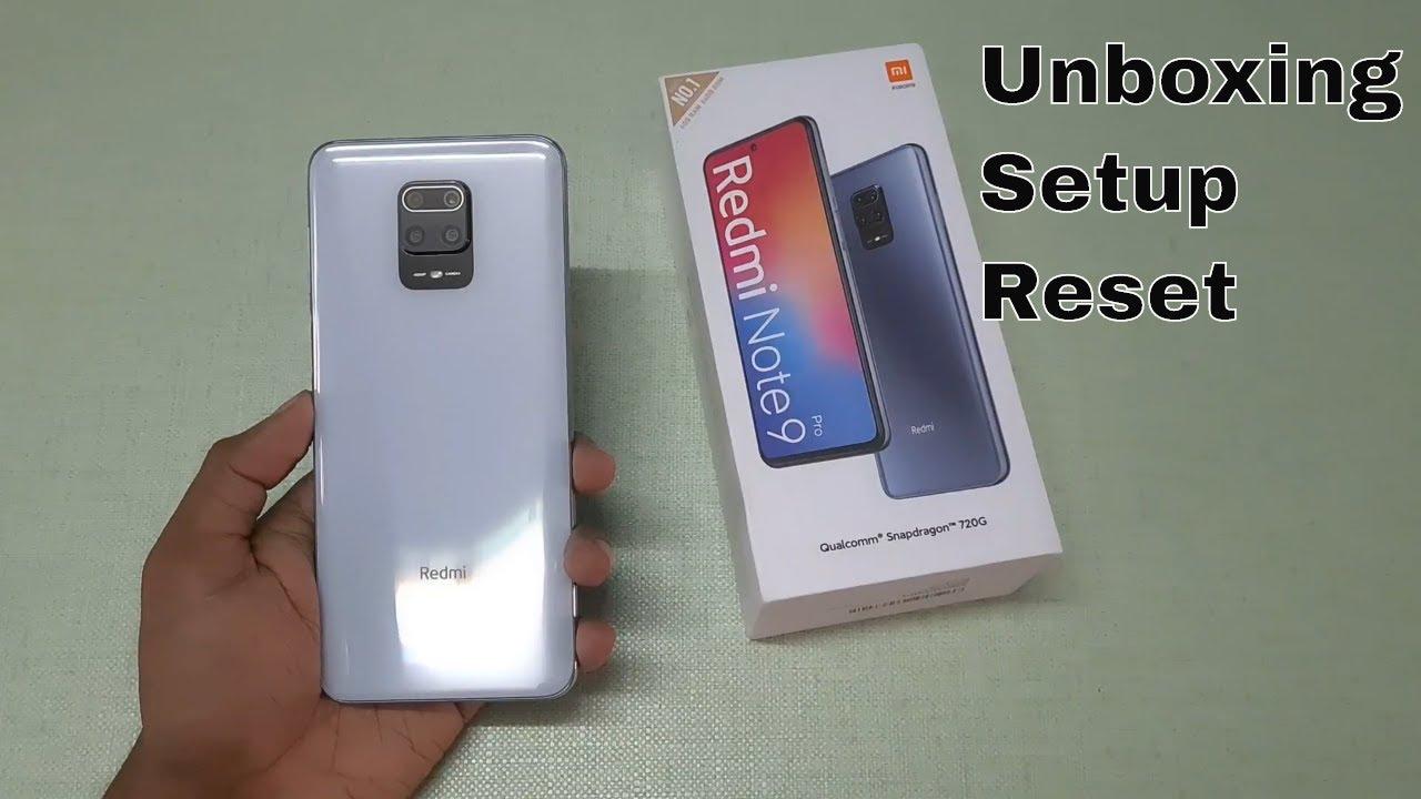 Redmi Note 9 Pro Unboxing Setup Reset Glacier White Youtube