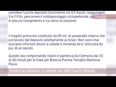 Ritardi Da Cremona, Lo Impone Una Direttiva Di Trenord