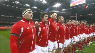 Hymnes Galles - Angleterre Tournoi des 6 Nations 2013 (Anthems Wales-England 2013)