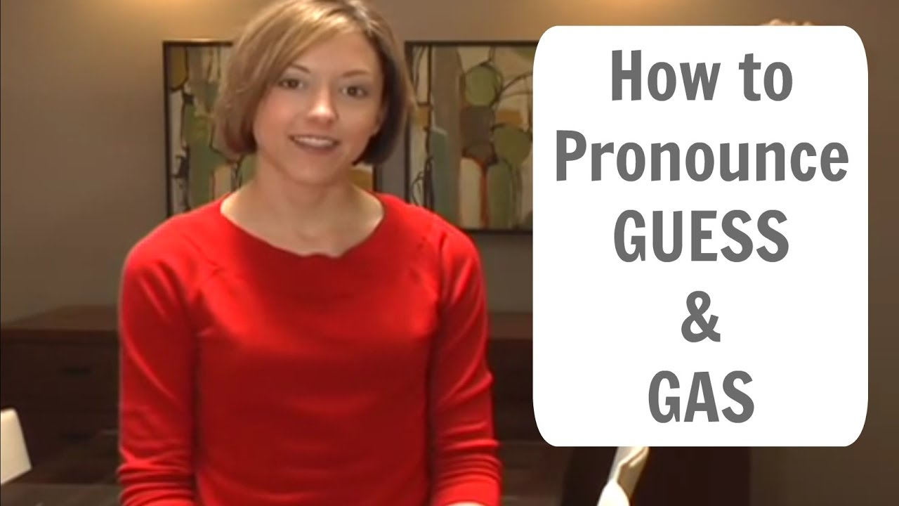 How to pronounce GUESS and GAS /gɛs gæs/ - American English Pronunciation  Lesson
