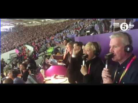 Mo Farah 10,000m London 2017 Watched By Mike Costello Allison Curbishley Radio 5 Live BBC