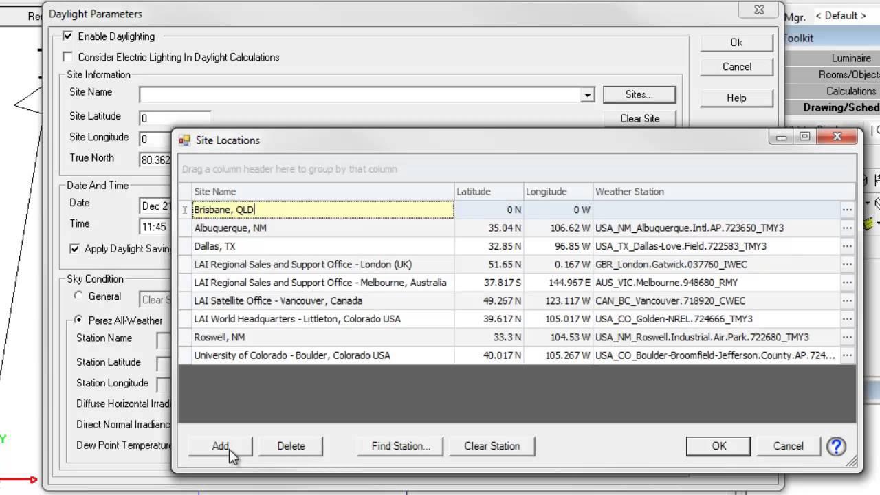 Daylighting Setup in AGi32 version 14 4