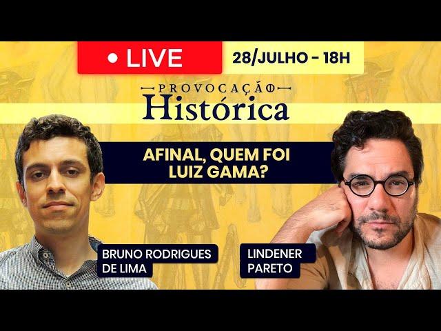 Provocação histórica: Afinal, quem foi Luiz Gama? - 28/Julho às 18h