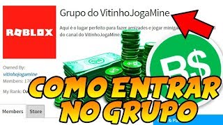 ROBLOX-HOW TO ENTER THE CHANNEL GROUP et WIN ROBUX GRATUIT