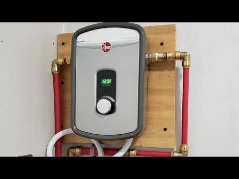 Rheem 240V Heating Chamber RTEX-13 Residential Tankless Water Heater Review