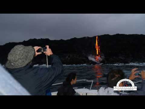 Lava Tour boats offer the premiere  Hawaii Volcano Tours