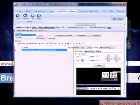 CVP Player - News Ticker Template Demo - YouTube
