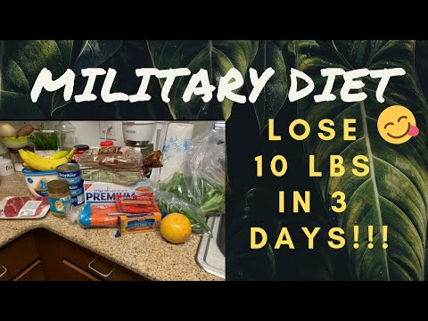 MILITARY DIET: LOSE 10LBS IN 3 DAYS!