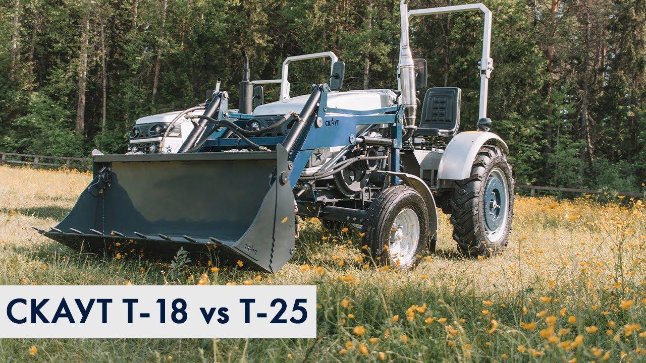 Сравнение мини-тракторов СКАУТ Т-18 и СКАУТ Т-25