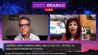 CARMEN HARRA REVINE - INFORMATII DESPRE ROMANIA, CRIZA, TERAPII PENTRU CUPLU SI COVID