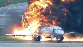 video: Watch: New video reveals horror of deadly Moscow plane fire