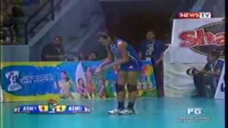 AdMU vs Philippine Army - August 18,2014 [ Set 5 ] Shakey's V-League Season 11