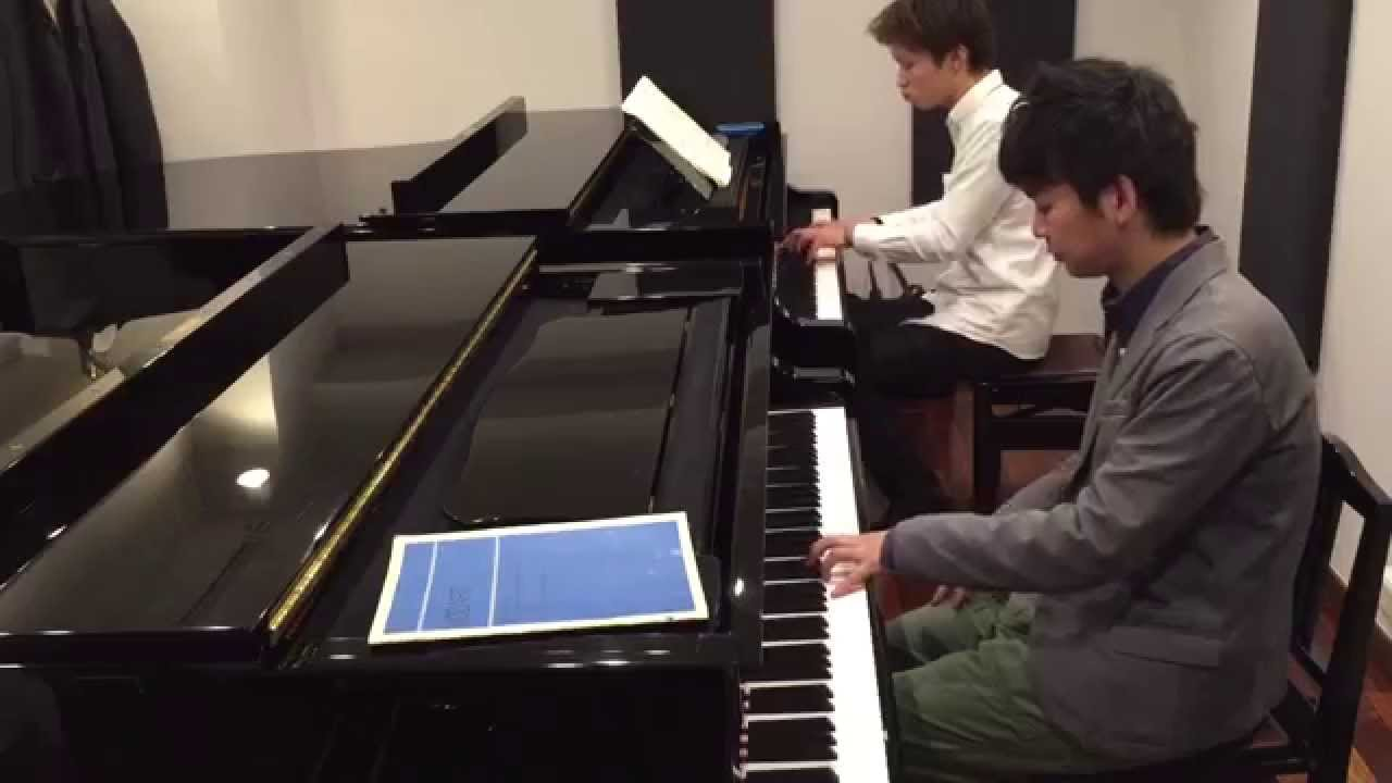 mozart sonata for 2 pianos in d major k 448 movement 1