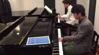 Mozart Sonata for 2 Pianos in D major K.448 movement 1 / モーツァルト 2台ピアノのためのソナタ ニ長調より 第1楽章