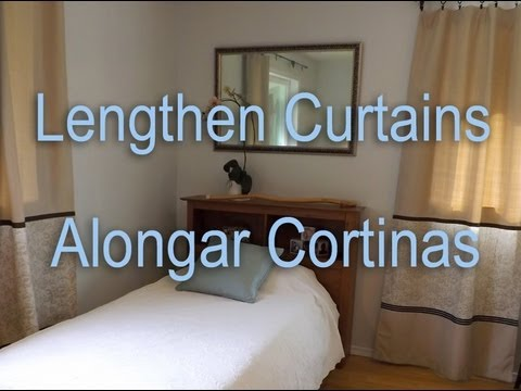 How to Lengthen Curtains. Como Alongar Cortinas.