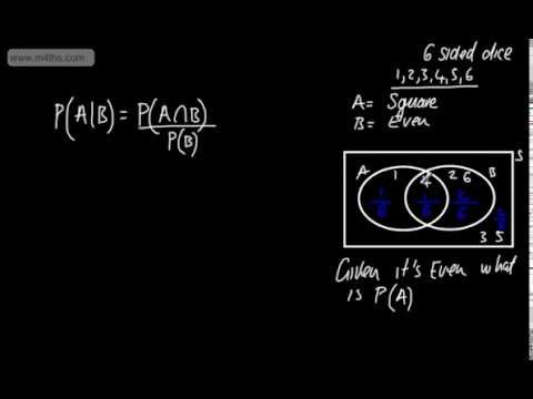 S1 - Statistics - Probability (4) (Conditional Probability A Given B) Stats AS Maths Edexcel