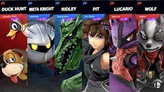 Super Smash bros Ultimate Amiibo Fight - Team Wings Vs Team Canidae