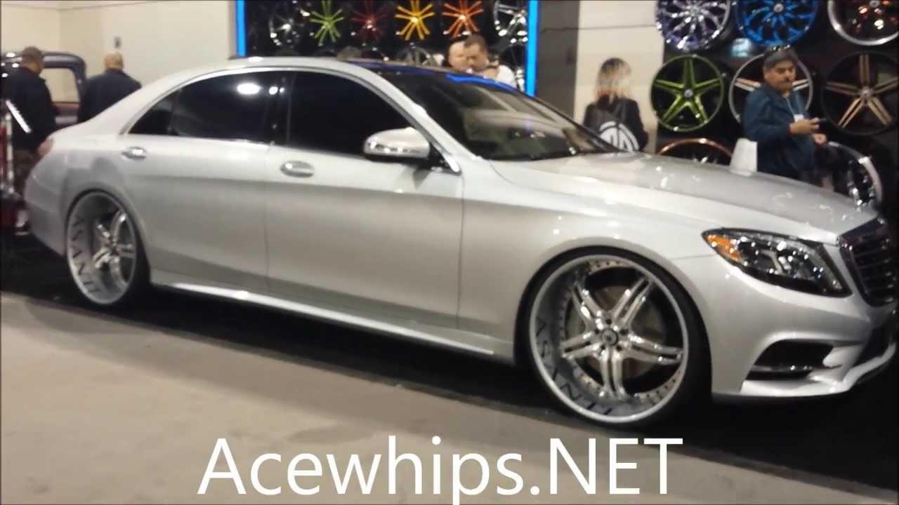 """2013 Mercedes S550 >> Acewhips.NET- First 2014 Mercedes-Benz S550 on 24"""" ASANTIS ..."""