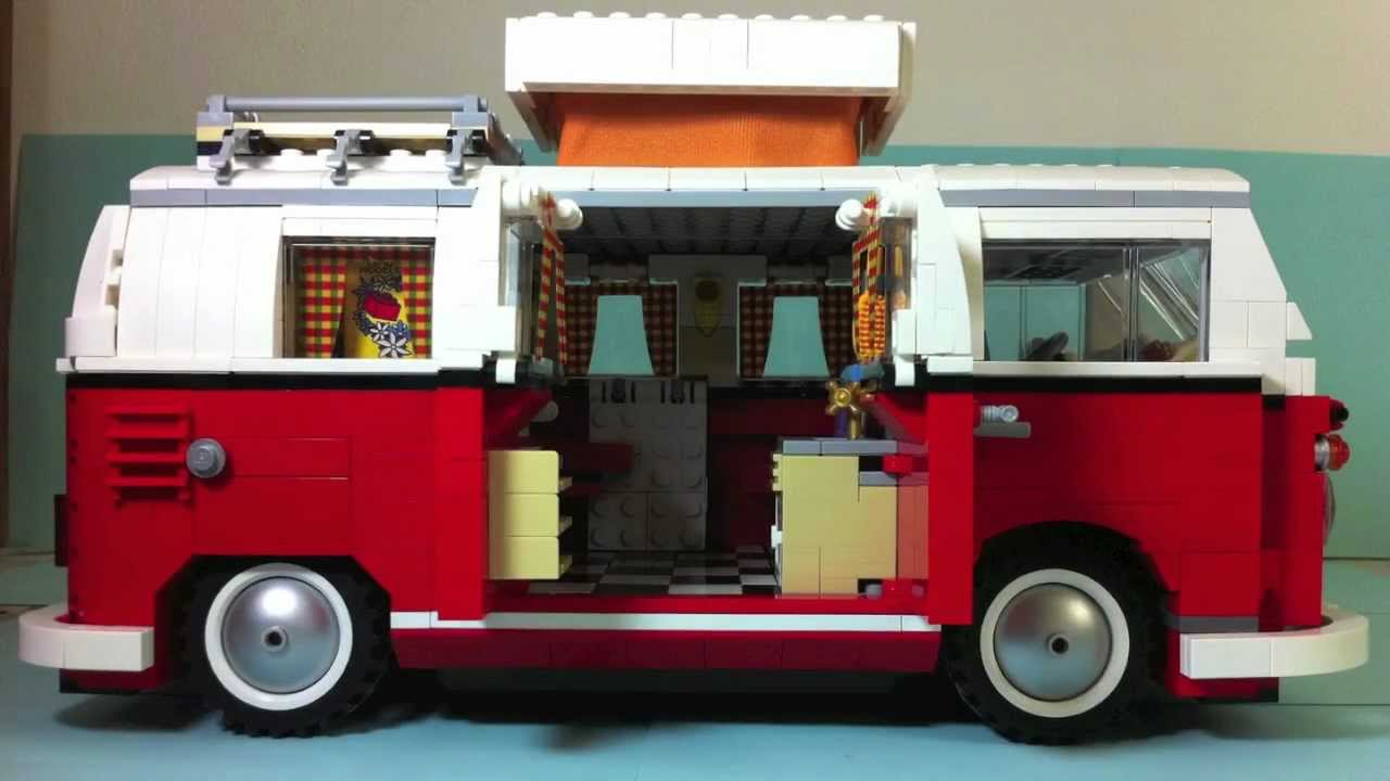 lego 10220 volkswagen t1 camper van youtube. Black Bedroom Furniture Sets. Home Design Ideas