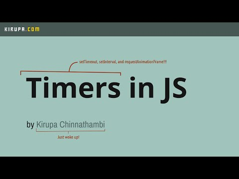 Timers in JavaScript