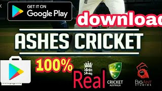 Ashes cricket download on Android