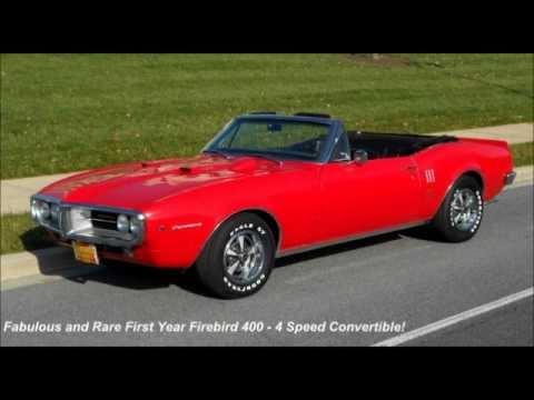 Super Rare 1967 Firebird 400 Convertible 4 Speed For Sale!