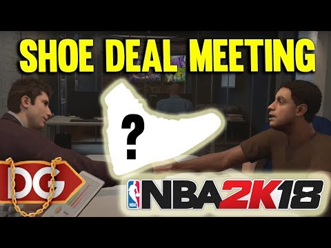 WHAT SHOE COMPANY DO WE SIGN WITH ??? - NBA2k18 MYCAREER CENTER GAMEPLAY #7