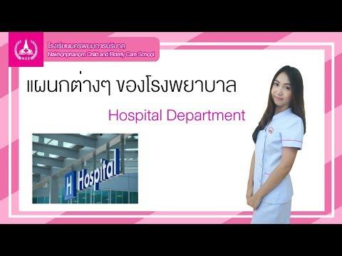 แผนกต่างๆ ของโรงพยาบาล
