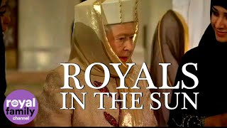Royals in the Sun: The Queen at the Abu Dhabi Grand Mosque!