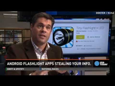 Is your flashlight app stealing data from your phone?