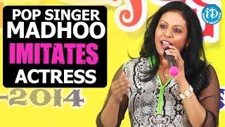 Pop Singer Madhoo Imitates Lakshmi Manchu, Y.S. Sharmila, Jhansi, Singer Sunitha @ TANA