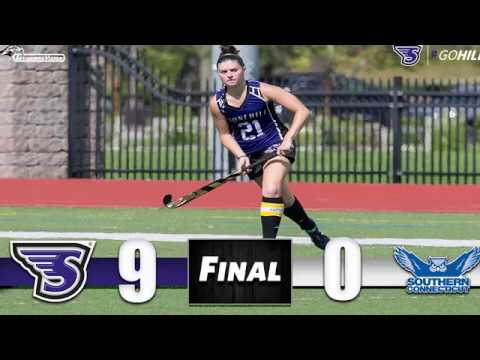 Stonehill Field Hockey Highlights & Postgame Interviews vs. Southern Conn. St.