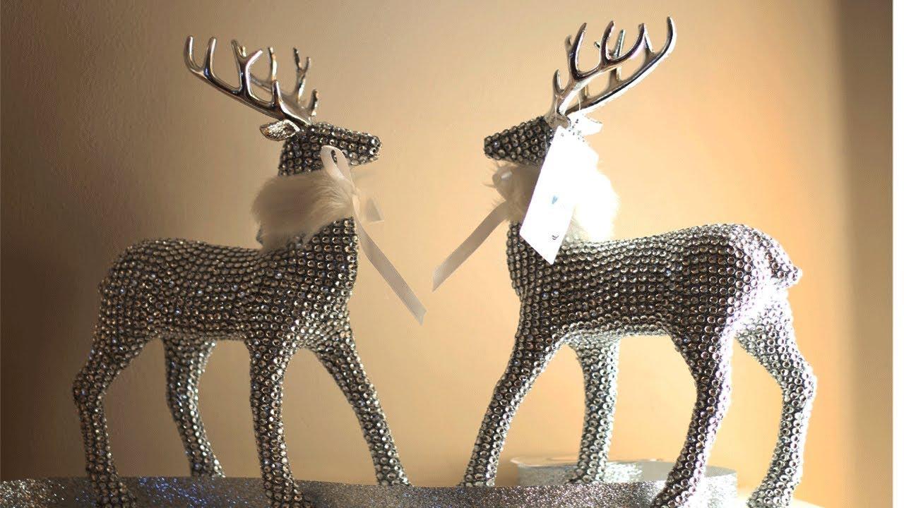 Big Lots Christmas Decor 2017: Rhinestone Reindeer - YouTube