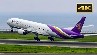 [4K] Takeoff Boeing 777 Thai Airways at Chubu Centrair NGO/ 離陸 Boeing 777 名古屋国際空港で/ Взлет Boeing 777(, 2017-09-12T14:03:51.000Z)