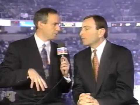 Awkward Gary Bettman and Ron MacLean interview from the 1997 All-Star Game