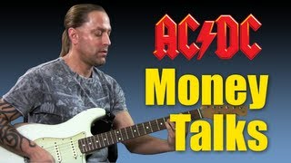 "How To Play ""Moneytalks"" by ACDC Guitar Lesson"