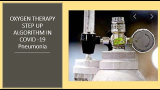 #improveoxygenathome How to give oxygen in COVID-19 Pneumonia?