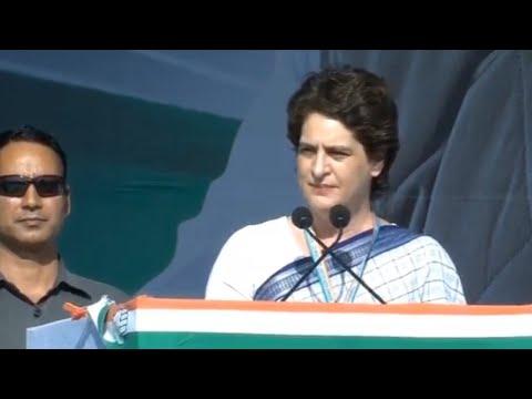 Priyanka Gandhi takes potshots at PM Modi in her 2019 debut speech