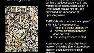 Medieval Drama, Mystery, Miracle, Morality Plays; Everyman - David Giampetruzzi, revision notes.