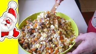 Салат Оливье, вкусный домашний рецепт
