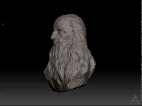 Leonardo Da Vinci Zbrush Sculpt 360 turntable from Self Portrait