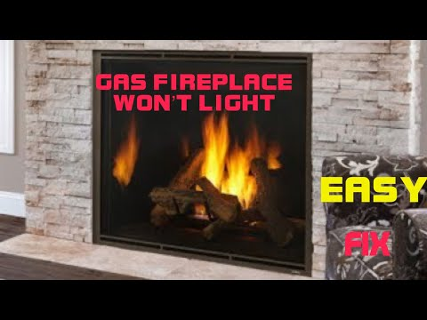 Gas Fireplace Won T Light Fixed Youtube