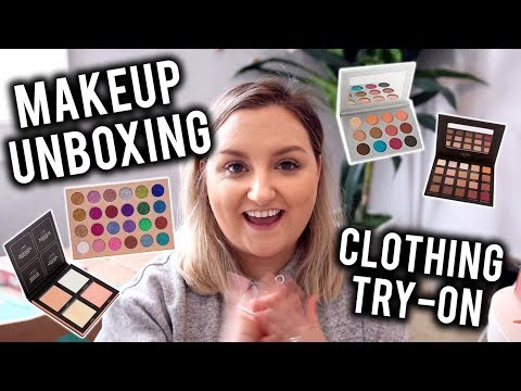 WOW! HUGE MAKEUP UNBOXING + CLOTHING TRY-ON | NEW MAKEUP RELEASES  + ONLINE THRIFTING??